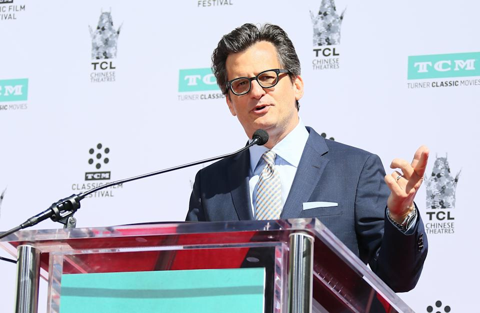 HOLLYWOOD, CA - APRIL 12: Ben Mankiewicz attends his hand & footprint ceremony at TCL Chinese Theater on April 12, 2019 in Los Angeles, California.  (Photo by JB Lacroix / WireImage)