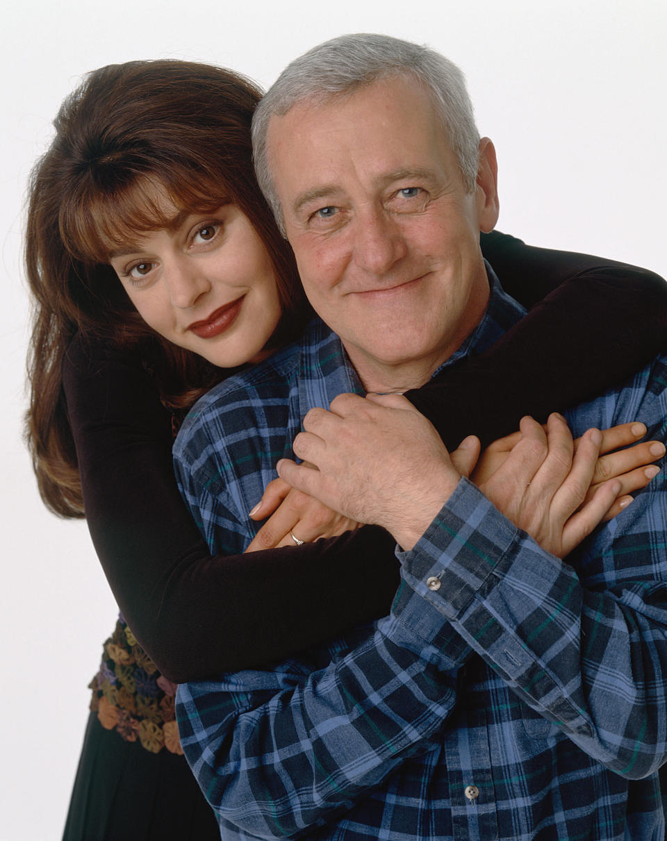 Back in the Frasier days,Jane Leeves as Daphne Moon and John Mahoney as Martin Crane. (Photo: David Rose/NBC/NBCU Photo Bank via Getty Images)