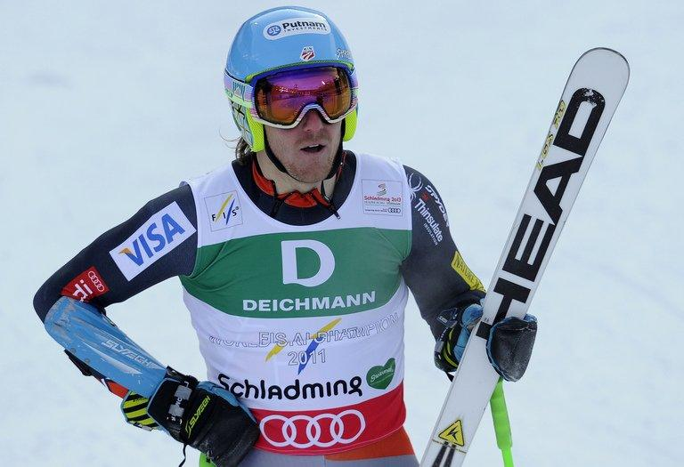 Ted Ligety at the 2013 Ski World Championships in Schladming on February 15, 2013