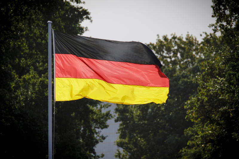 Berlin, Germany - September 28: A German flag blows in the wind at Bellevue Castle on September 28, 2018 in Berlin, Germany. (Photo by Inga Kjer/Photothek via Getty Images)