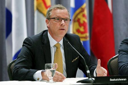 Brad Wall gives one more podium-pounding speech before calling it quits