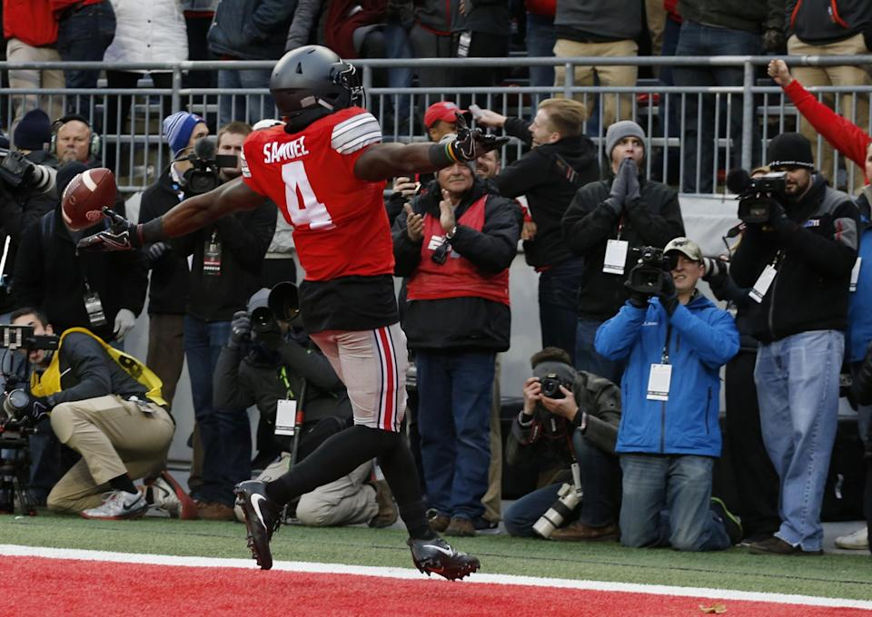 Ohio State's Curtis Samuel could project as a returner, runner or receiver in the NFL. (AP)