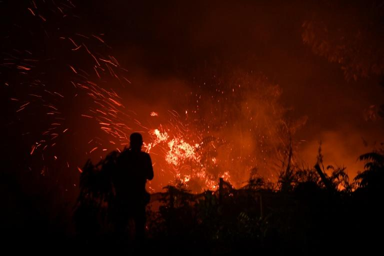 Illegal fires to clear land for agricultural plantations are blazing out of control on Sumatra and Borneo islands