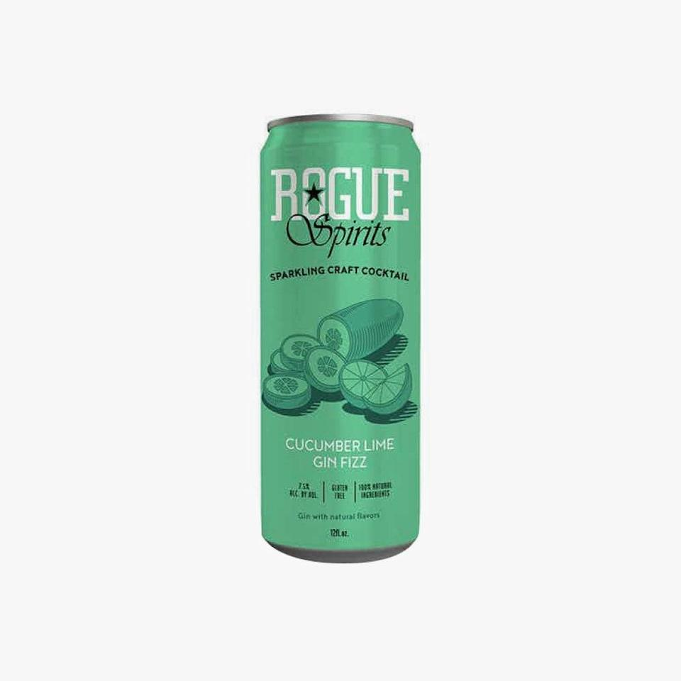 """$15, DRIZLY. <a href=""""https://drizly.com/liquor/ready-to-drink/rogue-spirits-cucumber-lime-gin-fizz-canned-cocktail/p101846"""" rel=""""nofollow noopener"""" target=""""_blank"""" data-ylk=""""slk:Get it now!"""" class=""""link rapid-noclick-resp"""">Get it now!</a>"""