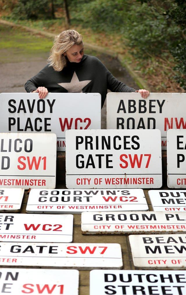 London street signs auction