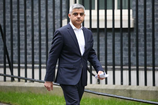 Sadiq Khan said the emergency measures would help those who have to travel to work by fast-tracking the transformation of streets across London. (PA)