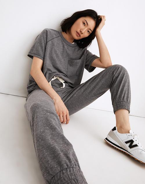 """<br><br><strong>Madewell</strong> MWL Skyterry Easygoing Sweatpants, $, available at <a href=""""https://go.skimresources.com/?id=30283X879131&url=https%3A%2F%2Fwww.madewell.com%2Fmwl-skyterry-easygoing-sweatpants-NA750.html"""" rel=""""nofollow noopener"""" target=""""_blank"""" data-ylk=""""slk:Madewell"""" class=""""link rapid-noclick-resp"""">Madewell</a>"""