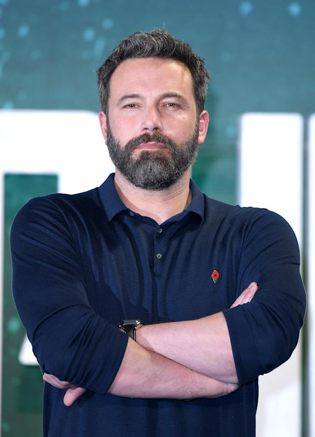 Ben Affleck at the <em>Justice League</em> photo call in London on Nov. 4. (Photo: Karwai Tang/WireImage)