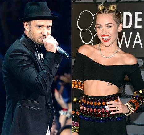 "Justin Timberlake Defends Miley Cyrus' VMAs Performance: ""It's Not Like She Did It at the Grammys"""