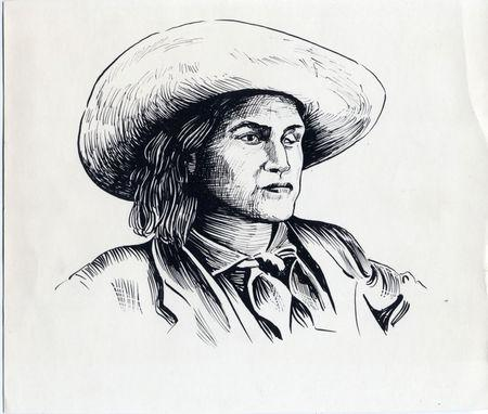 """Charley Parkhurst, a legendary stagecoach driver during California's Gold Rush, also known as """"One-Eyed Charley"""" is seen in this illustration image, released by Santa Cruz Museum of Art & History in Santa Cruz, California, U.S., on May 2, 2019.   Courtesy Santa Cruz Museum of Art & History/Handout via REUTERS"""