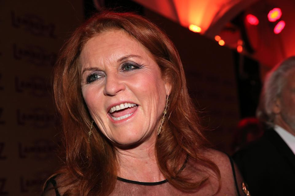 COLOGNE, GERMANY – JANUARY 28: Duchess of York Sarah 'Fergie' Ferguson during the 'Rockin' Chocolate' Lambertz Monday Night 2019 ( Schokoparty ) on January 28, 2019 in Cologne, Germany. (Photo by Gisela Schober/Getty Images)