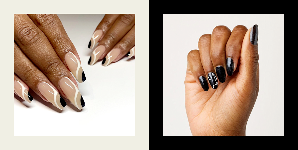 """<p>Black and white is probably the only color combo that's as modern as it is retro. Because of that, black-and-white nails are one of those looks you're going to want to come back to over and over (and over) again, so you're going to need lots of style inspiration. Take this time to go grab a bottle of <a href=""""https://www.cosmopolitan.com/style-beauty/beauty/g25895798/white-nail-polish-colors/"""" rel=""""nofollow noopener"""" target=""""_blank"""" data-ylk=""""slk:white nail polish"""" class=""""link rapid-noclick-resp"""">white nail polish</a> and a <a href=""""https://www.cosmopolitan.com/style-beauty/beauty/g28816455/black-nail-polish/"""" rel=""""nofollow noopener"""" target=""""_blank"""" data-ylk=""""slk:black nail polish"""" class=""""link rapid-noclick-resp"""">black nail polish</a> so you can get started ASAP trying one of the below designs. And if you don't already own the right shades, no worries—I've got plenty of polish recommendations linked throughout for you to shop. So with that said, keep scrolling for 23 black-and-white nail designs you can wear all year long, along with all the products and tips you need to copy them yourself.<br></p>"""
