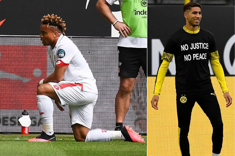 Bundesliga: Mainz's Pierre Kunde Malong Takes a Knee after Scoring as Borussia Dortmund Join Bayern Munich in Protest