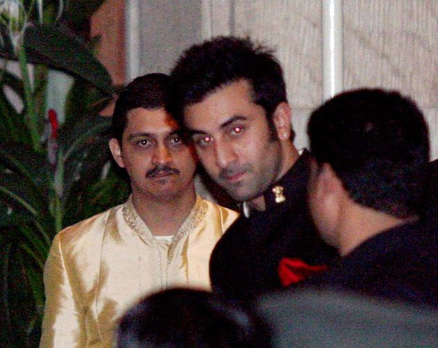 This was the first time we spotted Ranbir Kapoor during the wedding celebrations.