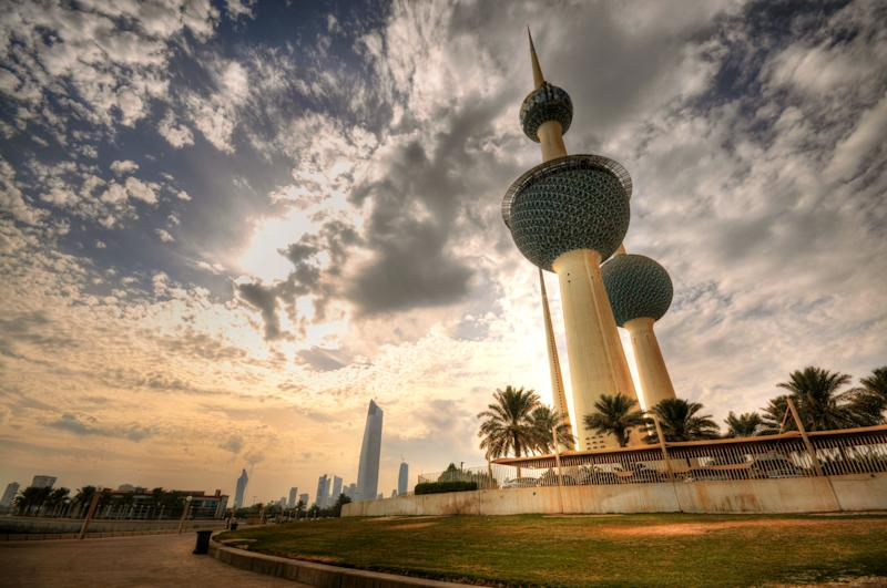 Kuwait Towers Before Sunset. Photo: Getty
