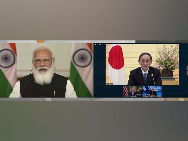 Prime Minister Narendra Modi and his Japanese counterpart Yoshihide Suga during the Quad meet on Friday.