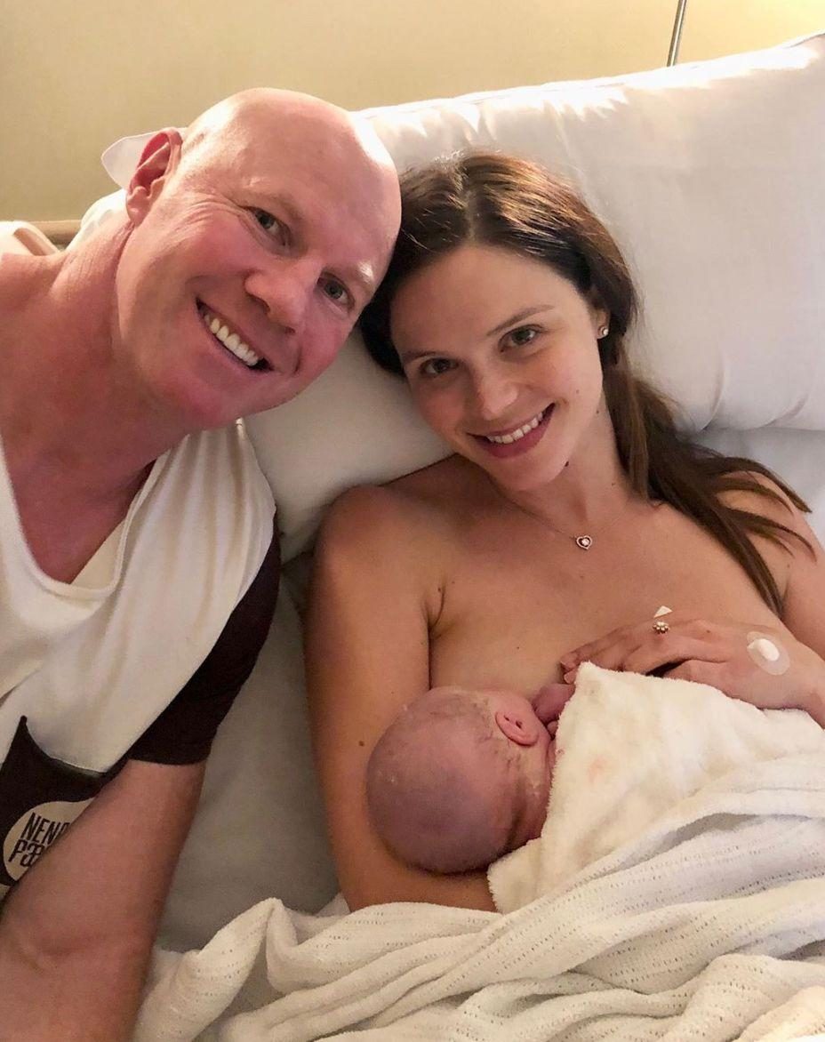 `barry Hall and Laurent Brant welcomed their newborn son on Instagram