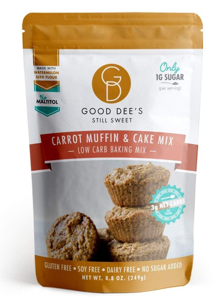 <p>We're salivating over this <span>Good Dee's Carrot Muffin & Cake Mix</span> ($13), which only has eight grams of net carbs per serving.</p>