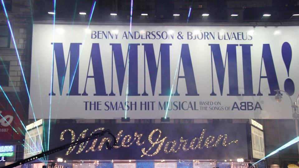 Mandatory Credit: Photo by Carolyn Contino/BEI/Shutterstock (5157063r)Lisa Brescia and cast performing encore finale superset on Broadway outsideMamma Mia! 10th Anniversary on Broadway, New York, America - 18 Oct 2011MAMMA MIA! celebrates its 10th Anniversary on Broadway, Winter Garden Theatre.