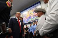 US President Donald Trump's trip to El Paso and earlier to Dayton was meant to console Americans after two mass shootings, but political feuds dogged him the whole way