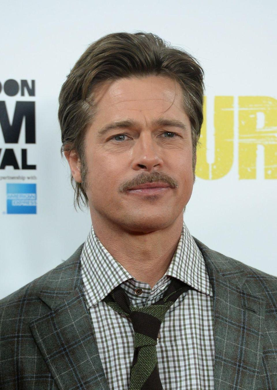 <p>The picture of graceful aging, Brad Pitt has transitioned through various stages of mustache maturity. No matter how he wears it, his facial hair seems to add an air of sophistication and wisdom to his handsome face. </p>