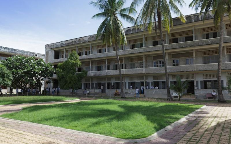 Tuol Sleng prison, now a genocide museum - Robert Harding/ Alamy