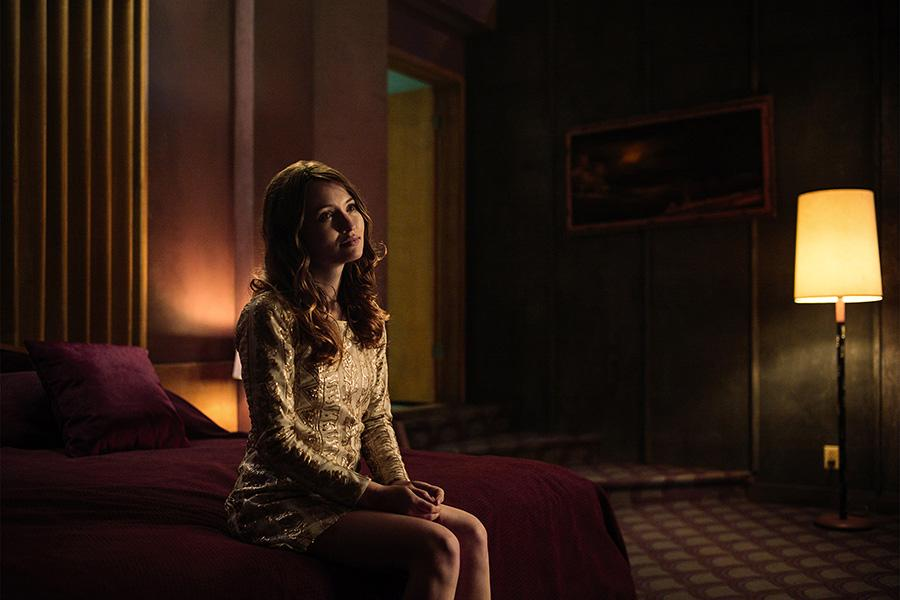 <p>Emily Browning as Laura Moon in Starz's <i>American Gods</i>.<br /><br />(Photo: Starz) </p>