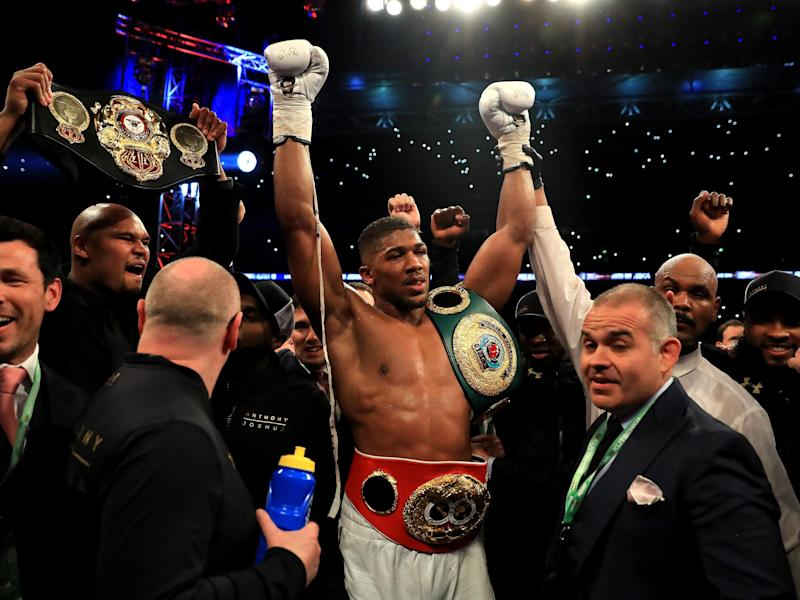 Anthony Joshua passed the toughest test of his career to date with a stunning late knockout: Getty