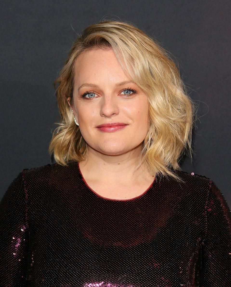 <p>Moss has appeared in many movies and shows since crafting the character of Peggy Olson, but none more notably than her current compelling role as Offred on the dystopian Hulu series <em>The Handmaid's Tale. </em> </p>