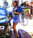 <p>In Beverley Hills for lunch sporting a cut-off denim jacket and Re/Don skirt </p><p><br><br><br></p>