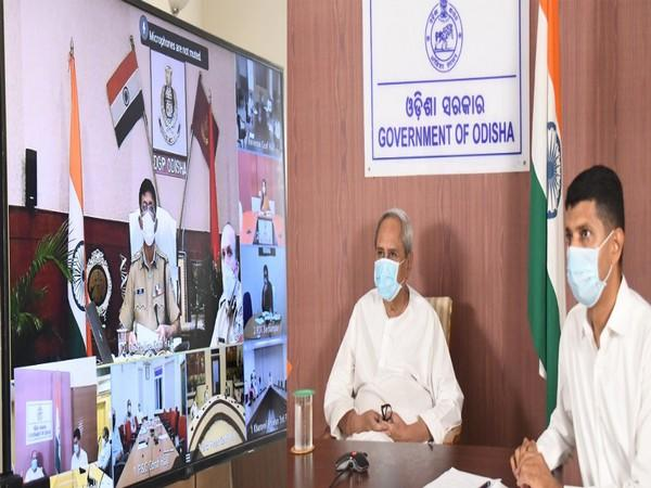 Odisha Chief Minister Naveen Patnaik in the view meeting on Wednesday.