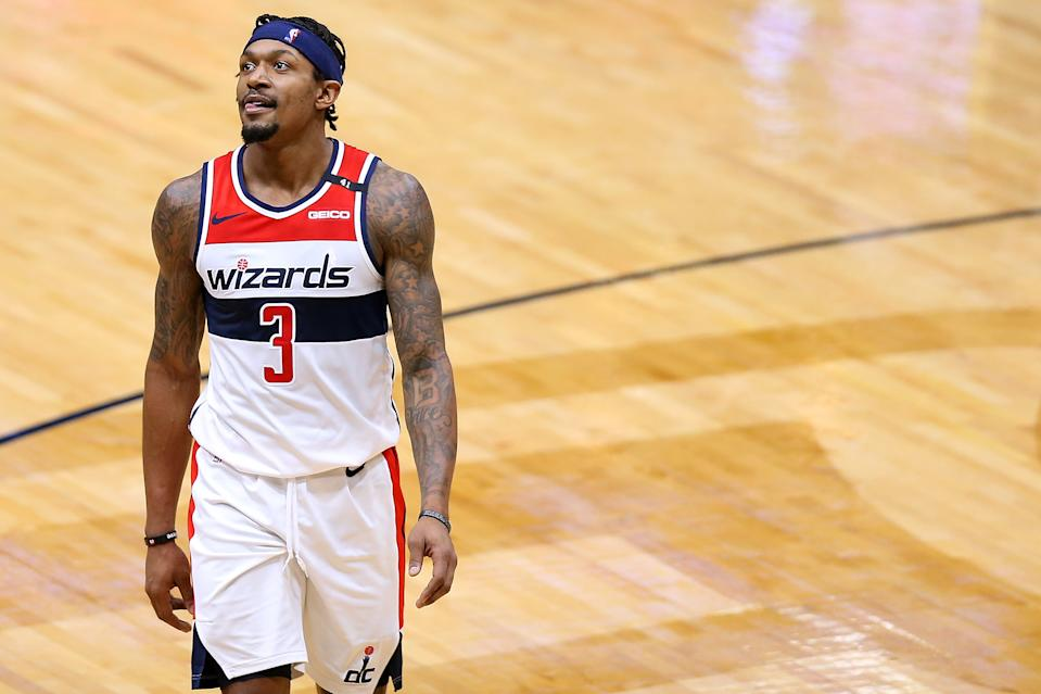 Bradley Beal has not hidden his frustration with the Washington Wizards' mounting losses. (Jonathan Bachman/Getty Images)