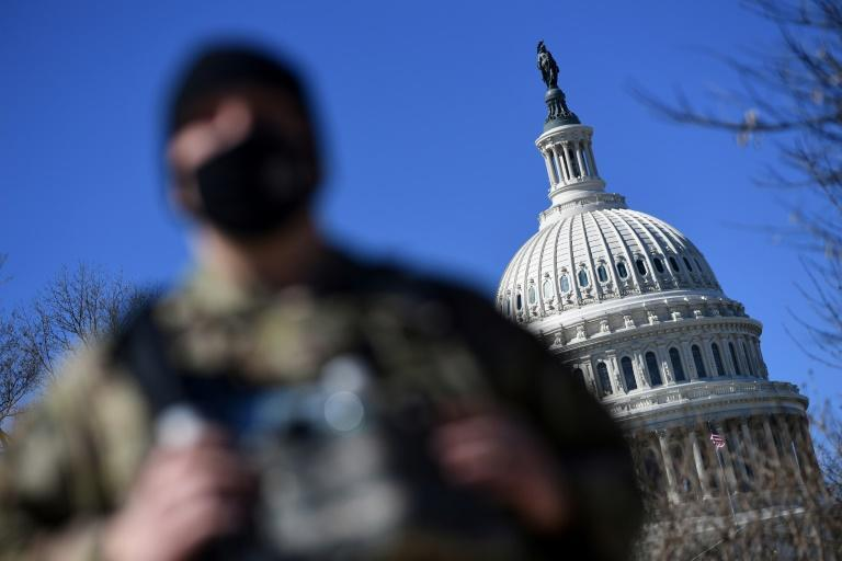 Members of the National Guard remain in Washington as part of an enhanced security posture that has been in place since the deadly riot at the US Capitol on January 6, 2021