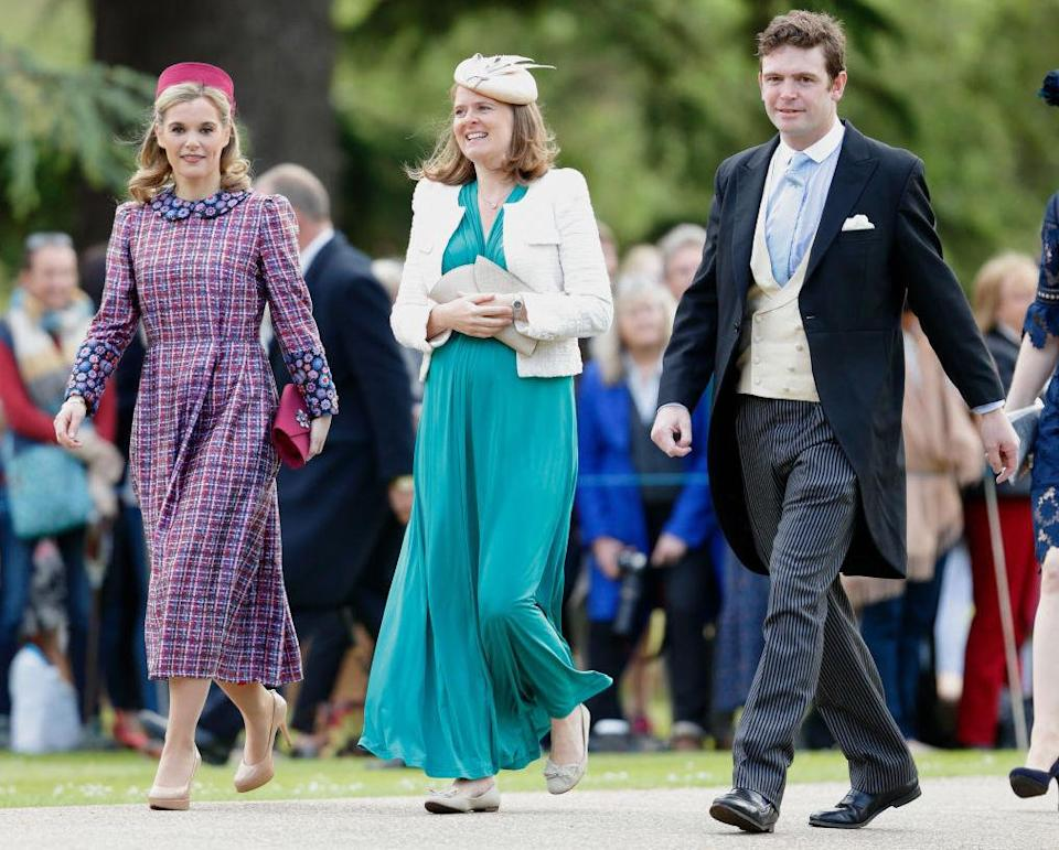 Sophie Turner (far left) and James Meade are Princess Charlotte's godparents [Photo: Getty]