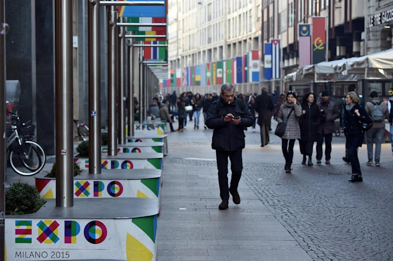Italian media reported that the site of the upcoming Expo 2015 world fair in Milan has been identified as prime potential targets for Islamist militants (AFP Photo/Giuseppe Cacace)