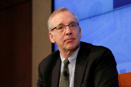 """FILE PHOTO:    William C. Dudley, President of the Federal Reserve Bank of New York answers questions delivered by moderator Rob Cox during a Reuters Newsmakers panel titled """"Banking Culture: Still Room for Improvement?"""" in the borough of Manhattan"""