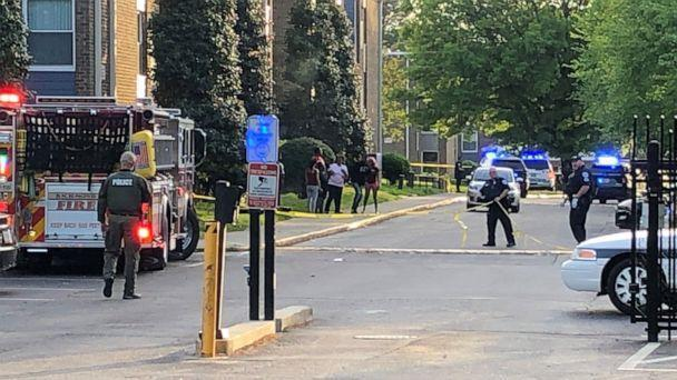 PHOTO: A mother and her 3-month-old son were killed in a shooting at an apartment complex in Richmond, Va., on April 27, 2021. Three others women were injured, including two teenagers. (WRIC)