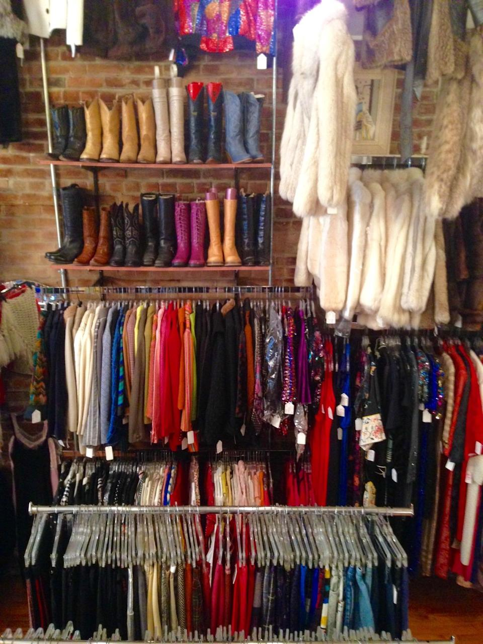 """<p>There are bigger and more luxurious vintage stores in Portland, but this <a href=""""https://www.facebook.com/hattiesvintageusa/"""" rel=""""nofollow noopener"""" target=""""_blank"""" data-ylk=""""slk:East Burnside Street store"""" class=""""link rapid-noclick-resp"""">East Burnside Street store</a> stands alone for its reliable mix of women's and men's gear spanning at least 100 years. The namesake owner picks locally, netting an array that's heavy on dresses for ladies (minis from the '60s are trending right now) and, for guys, gabardine jackets and Pendleton shirts — big shock in this town. Prices are entirely reasonable, with the sweet spot landing between $20 and $75. For those not heading to the PNW anytime soon, Hattie's has an Etsy site. </p><p><i><a href=""""https://www.facebook.com/hattiesvintageusa/"""" rel=""""nofollow noopener"""" target=""""_blank"""" data-ylk=""""slk:Hattie's Vintage Clothing,"""" class=""""link rapid-noclick-resp"""">Hattie's Vintage Clothing,</a> 729 E. Burnside St. #101, Portland, OR 97214. (503) 238-1938</i></p>"""