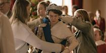 "<p>If you watch <em>The Crown</em> and think, ""Wow, that looks expensive,"" it's because it <em>is</em>. <a href=""http://www.bbc.co.uk/news/world-42439285"" rel=""nofollow noopener"" target=""_blank"" data-ylk=""slk:According to the BBC,"" class=""link rapid-noclick-resp"">According to the <em>BBC</em>,</a> the first two seasons cost $130 million—or between $6.5 million and $13 million per episode.</p>"
