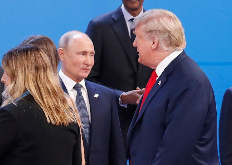 U.S. President Donald Trump and Russian President Vladimir Putin meet on the sidelines of the G-20 summit in Argentina. (Photo: THE ASSOCIATED PRESS)