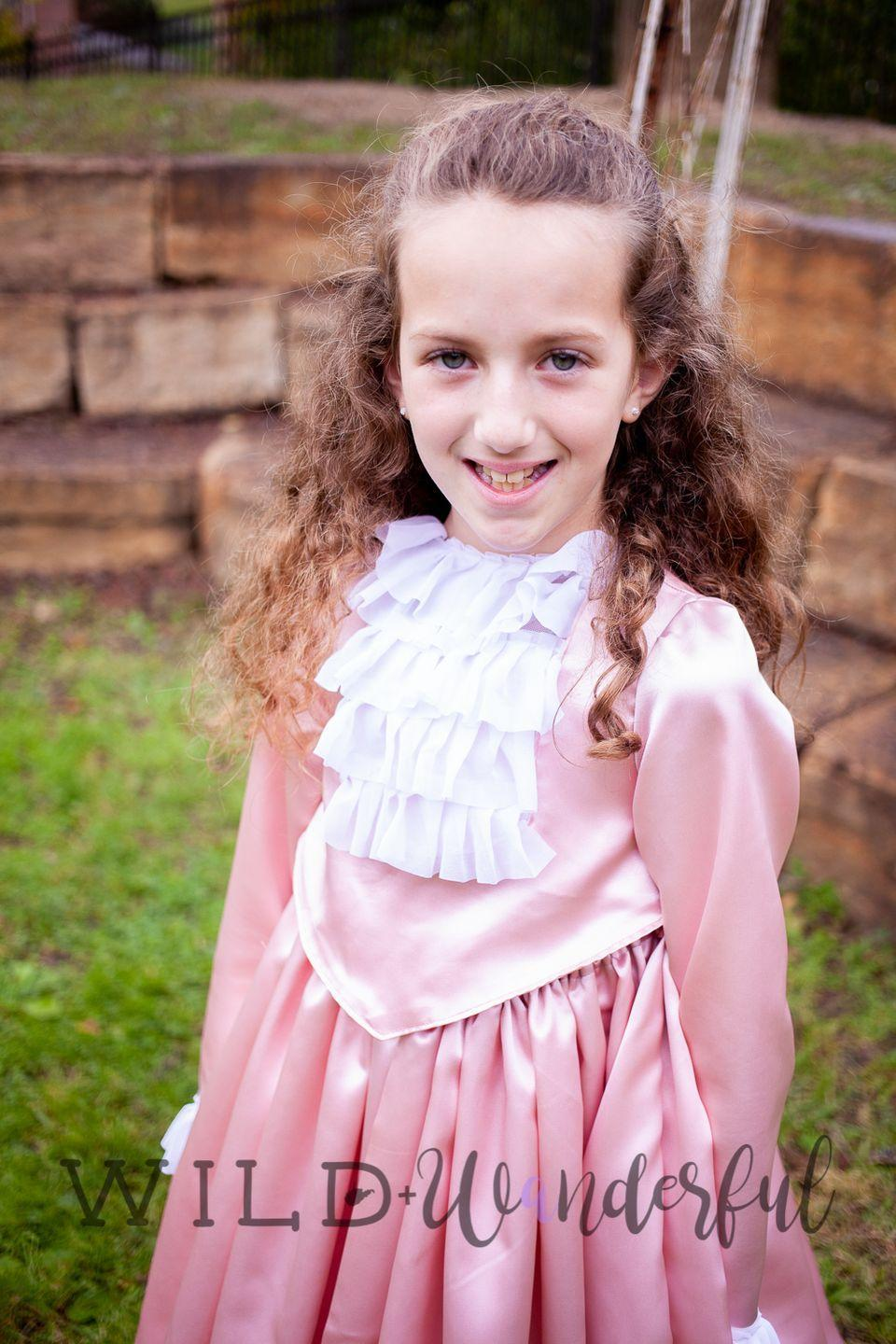 """<p>When West Virginian sewing enthusiast Katy McKinley was asked to design an Angelica Schuyler ballgown replica for a local student, she almost panicked; she only had a basic knowledge of <em>Hamilton</em>. But with a little research — and Angelica's signature determination — she put together this darling dress.</p><p><em><a href=""""https://wildandwanderful.com/blog/2018/10/angelica-schuyler/"""" rel=""""nofollow noopener"""" target=""""_blank"""" data-ylk=""""slk:Get the tutorial at Wild + Wanderful »"""" class=""""link rapid-noclick-resp"""">Get the tutorial at Wild + Wanderful »</a></em></p>"""