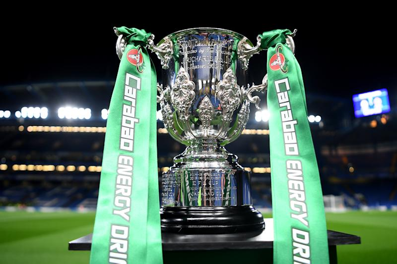 The Carabao Cup. (Photo by Michael Regan/Getty Images)