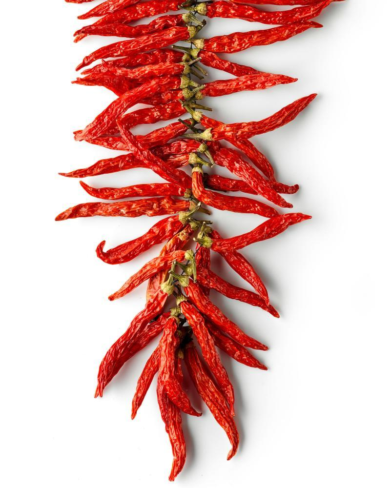 Feel the heat: dried chillies.