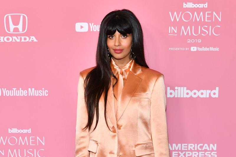 Jameela Jamil attends Billboard Women In Music 2019, presented by YouTube Music, on December 12, 2019 in Los Angeles, California. (Getty Images )