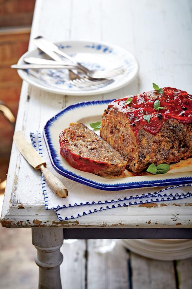 "<p><b>Recipe: <a href=""https://www.southernliving.com/recipes/slow-cooker-meatloaf-recipe"">Slow-Cooker Tomato-Basil Meatloaf</a></b></p> <p>This meatloaf recipe is a slightly elevated version of <a href=""https://www.southernliving.com/food/how-to/how-to-make-meatloaf-video"">the classic</a>, and it's made easier with help from your slow cooker.</p>"