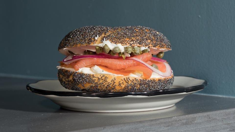 Wise Sons bagel and lox