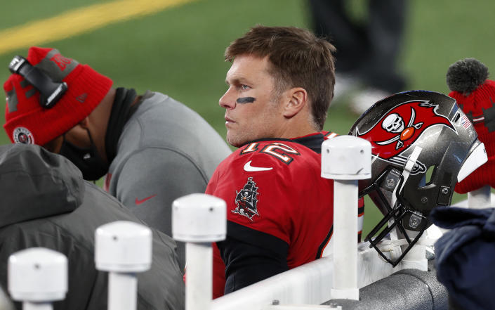 Tom Brady with the Buccaneers.
