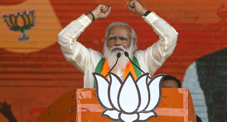 India's president Narendra Modi has been heavily criticised for his handling of the Covid pandemic. Source: AP