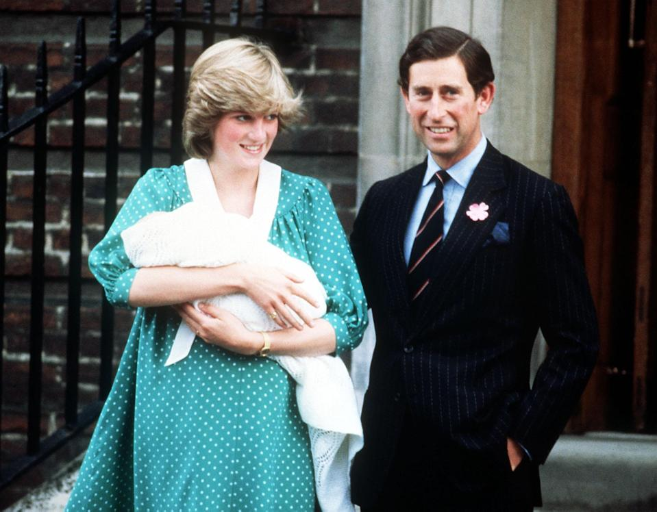 Princess Diana and Prince Charles with a newborn Prince William at the Lindo Wing in 1982 [Photo: PA]