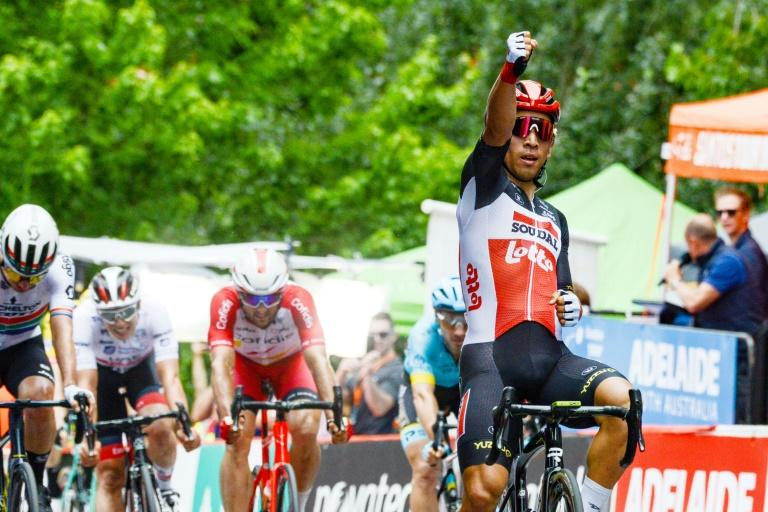 Caleb Ewan's second stage win followed first stage disappointment when he was out of position in the closing stages and came in a disappointing seventh